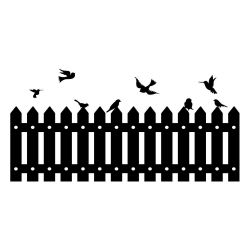 Adesivo de Parede Cabeceira Cerca Birds