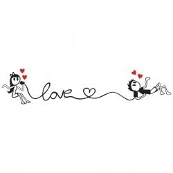 Adesivo de Parede Called Love