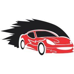 Adesivo de Parede Carro Corrida