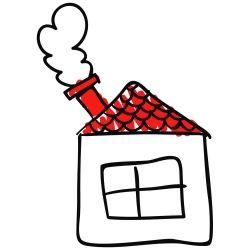 Adesivo de Parede Casa Desenho