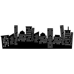 Adesivo de Parede Cidade Maluca