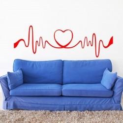 Adesivo de Parede Coração ECG