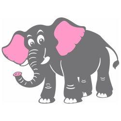 Adesivo de Parede Elefante Safari
