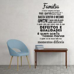 Adesivo de Parede Família é Quem