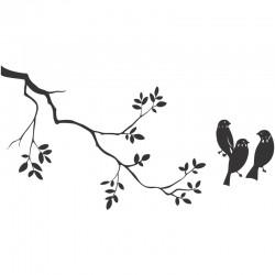 Adesivo de Parede Galho com pássaros