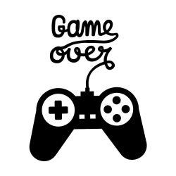 Adesivo de Parede Game Over Controle