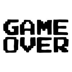 Adesivo de Parede Game Over Geek
