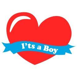 Adesivo de Parede Its a Boy  Coração