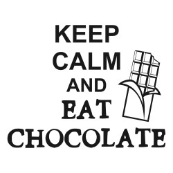 Adesivo de Parede Keep Calm and Eat Chocolate