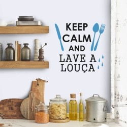 Adesivo de Parede Keep Calm and Lave a Louça