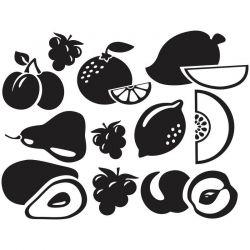 Adesivo de Parede Kit Frutas 2