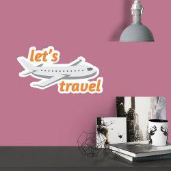 Adesivo de Parede Lets Travel