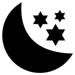 Adesivo de Parede Lousa Lua e Estrelas