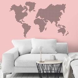 Adesivo de Parede Mapa Marbles