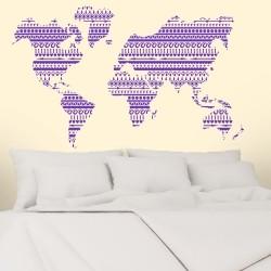 Adesivo de Parede Mapa Style