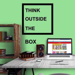Adesivo de Parede Outside the box