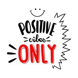 Adesivo de Parede Positive Vibes