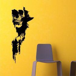 Adesivo de Parede Skull Grunge