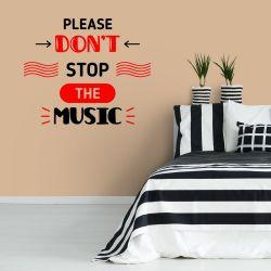 Adesivo de Parede Stop the Music