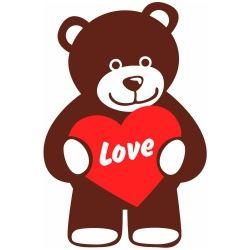 Adesivo de Parede Ursinho Love