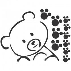 Adesivo de Parede Urso com pegada