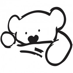 Adesivo de Parede Urso dormindo