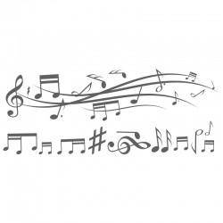 Adesivo de Parede Wind Music