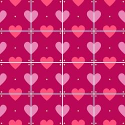 Adesivo para Azulejo Amor de Corações