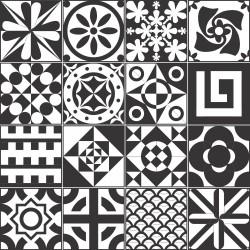 Adesivo para Azulejo Black Orion