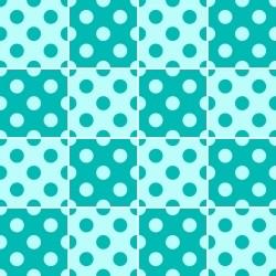 Adesivo para Azulejo Bolinhas Turquesa