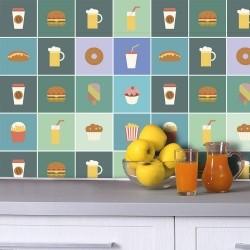 Adesivo para Azulejo Fast food