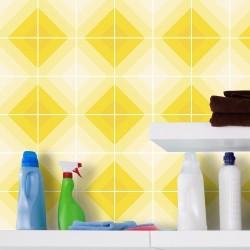 Adesivo para Azulejo Losangos Tons Amarelos