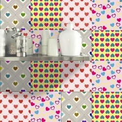 Adesivo para Azulejo Lovers