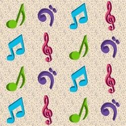 Adesivo para Azulejo Music
