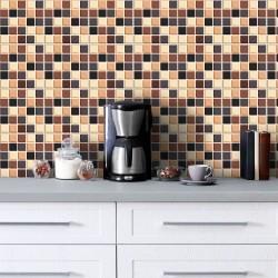 Adesivo para Azulejo Pastilha 3D Café