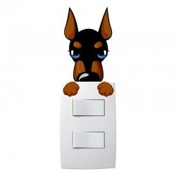 Adesivo para Interruptor Cão de guarda