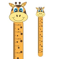 Adesivo Régua de Crescimento Girafa