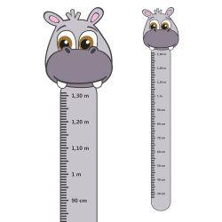Adesivo Régua de Crescimento Hipopótamo
