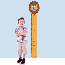 Adesivo Régua de Crescimento Leão