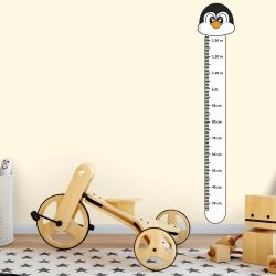 Adesivo Régua de Crescimento Pinguim