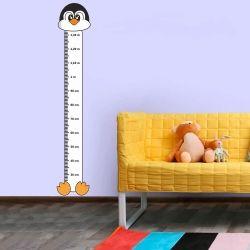 Adesivo Régua de Crescimento Pinguim com Patas