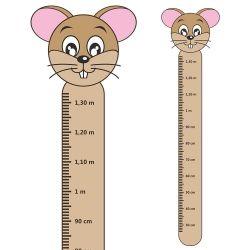 Adesivo Régua de Crescimento Ratinho