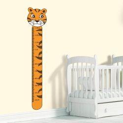 Adesivo Régua de Crescimento Tigre