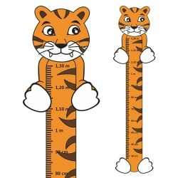 Adesivo Régua de Crescimento Tigre com Patas