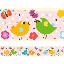 Faixa de Parede Birds Color