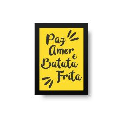 BRINDE - Placa Decorativa Batata Frita (8x10cm)