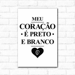 Corinthians - Placa Decorativa Coração Vintage