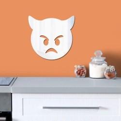 Espelho Decorativo Emoji Ódio
