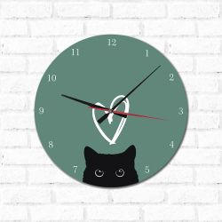 Relógio Decorativo Gatinho