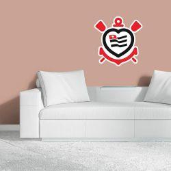 Corinthians - Adesivo de Parede Logo Coração